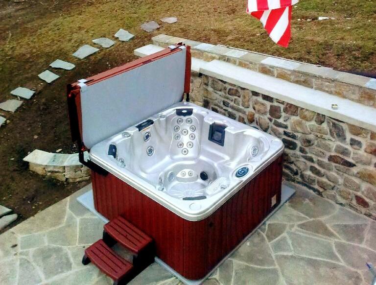 Buy Hot Tub >> EZ PAD® - Hot Tub Spa Base Photos Pics and testimonials/Reviews - How to Install a Spa Hot Tub ...