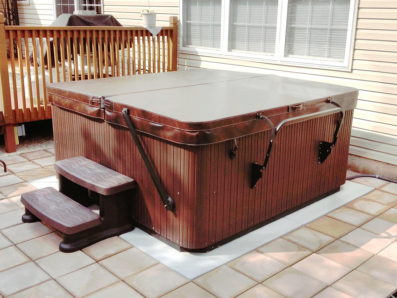 EZ PAD® - Hot Tub Spa Base Photos Pics and testimonials/Reviews ...